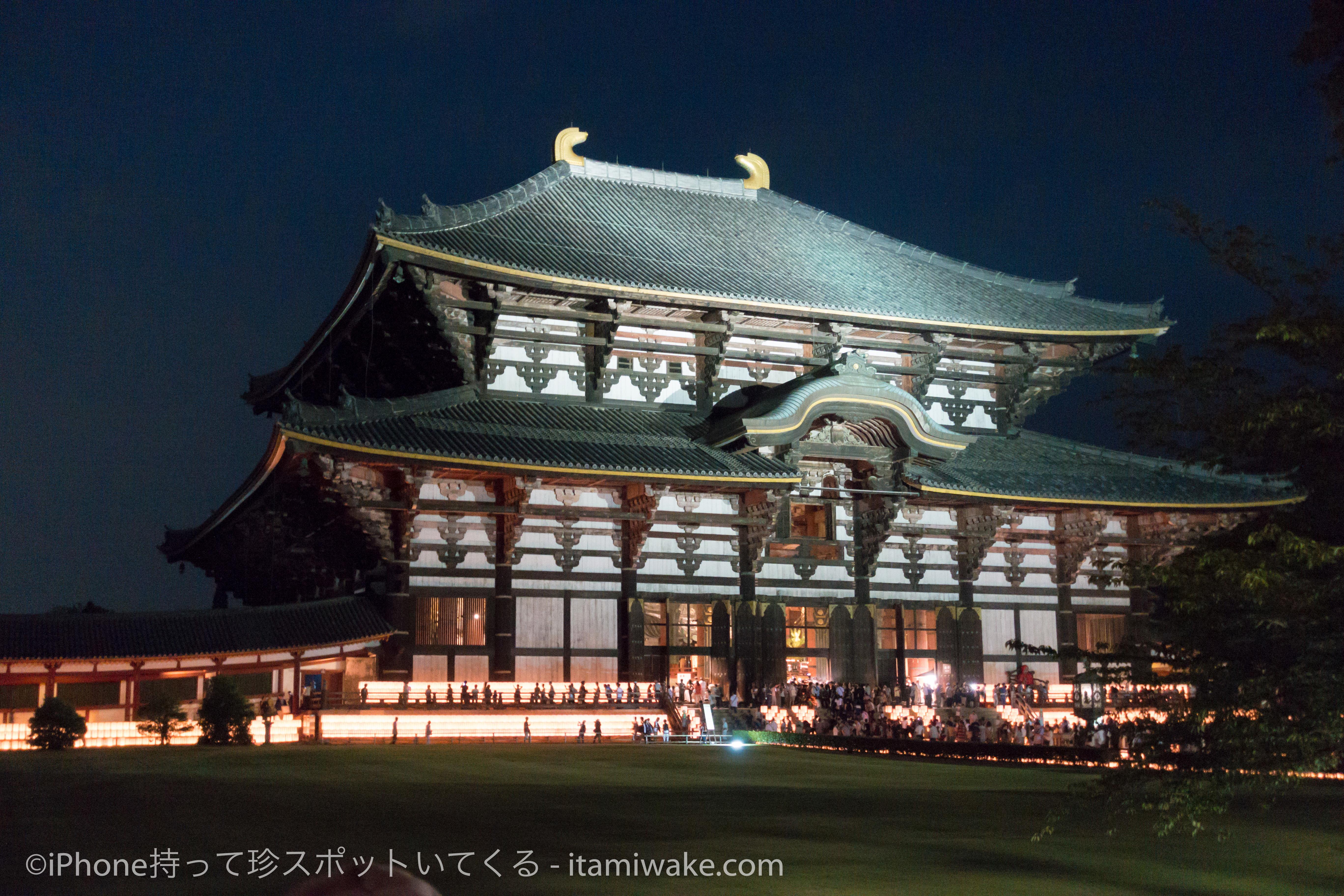 東大寺の万灯供養会で、年に2回だけの貴重な大仏の姿を見てきた