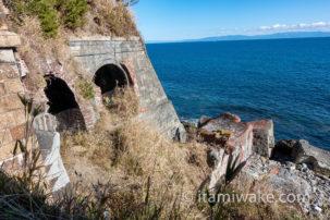 大崩海岸の絶景廃墟「石部トンネル」を見よ!そして探索中の事故により私は病院へ😭